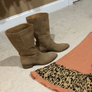 New Lucky Brand Slouch Lafara-Tan Mid-Calf Boots